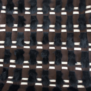 Camille Piaton fauteuil rotin poncé, tissage original de l'assise en lapin, cuir et nubuck, cornes de Buffle d'eau chinées une sélection de la galerie d'art Virginie Baro