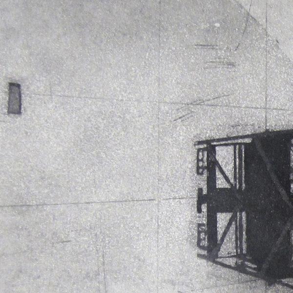 Blandine Galtier, gravure eau-forte, aquatinte, tirage numéroté sur 4 exemplaires sur papier Hahnemühle, une sélection de la galerie d'art Virginie Baro