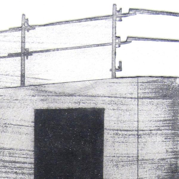 Blandine Galtier, gravure travaux à Mourenx, eau-forte, aquatinte, gaufrage, chine collé, tirage numéroté sur 4, sur papier Hahnemühle, une sélection de la galerie d'art Virginie Baro