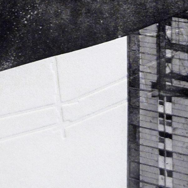Blandine Galtier, gravure travaux à Mourenx, eau-forte, aquatinte, gaufrage, tirage numéroté sur 4, sur papier Hahnemühle, une sélection de la galerie d'art Virginie Baro