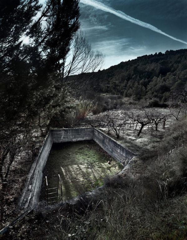 Abel Bourgeois, photographie à la chambre, paysage d'Aragon, sélection galerie d'art Virginie Baro