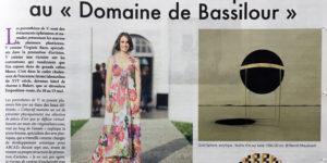 Article dans l'hebdomadaire La Semaine du Pays Basque qui présente l'exposition temporaire «Les parenthèses de V.» au Domaine de Bassilour à Bidart, commissariat d'exposition par la galerie d'art Virginie Baro