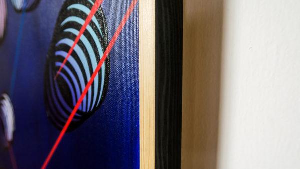 Aurélien Desbois, peinture acrylique sur toile, abstraction bleue, explosion, sélectionné par la Galerie d'art Virginie Baro