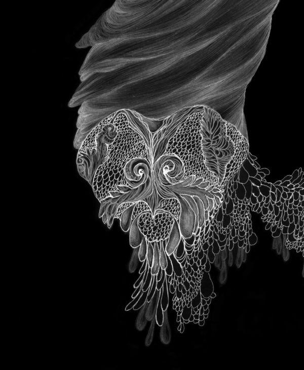 Marie-Noëlle Deverre, dessin noir et blanc, dessin numérisé numéroté et signé sur 8 exemplaires, tirage jet d'encre sur papier fine art, sélectionnée par la galerie d'art Virginie Baro