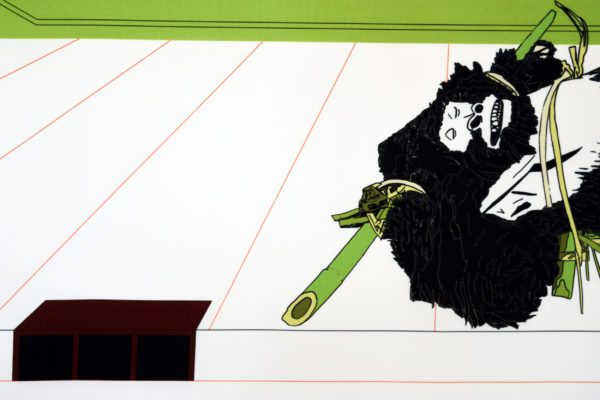 Marie Labat dessin numérique sur textile avec notamment des fleurs sauvages, sélection par la Galerie d'art Virginie Baro