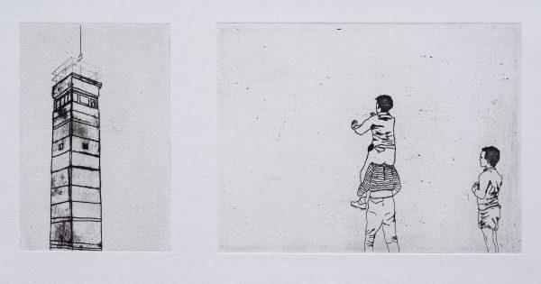 """Série """"Simple cuts"""", eau-forte et aquatinte sur cuivre par Jana Lottenburger, galerie Virginie Baro"""