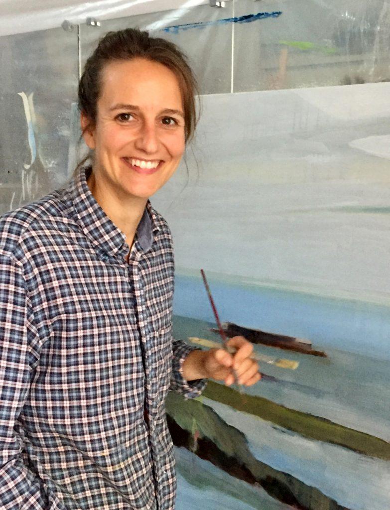 Artiste peintre Juliette June, représentée par la galerie Virginie Baro