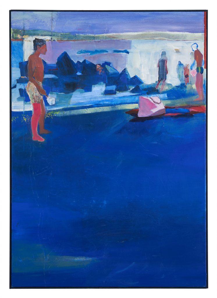 Huile sur toile de la peintre Juliette June représentée par la galerie Virginie Baro