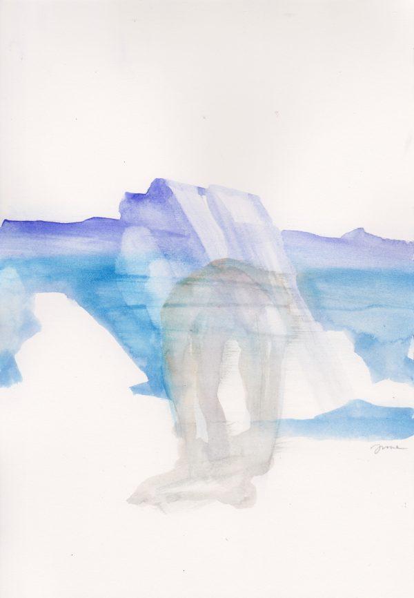 Aquarelle sur papier, œuvre de l'artiste Juliette June représentée par la galerie Virginie Baro