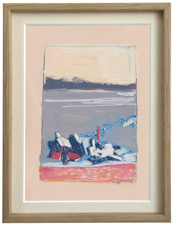 Feutre sur papier, œuvre de l'artiste Juliette June représentée par la galerie Virginie Baro