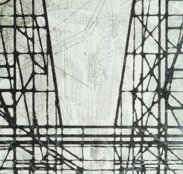 Monoprint sur papier Wenzhou, mono gravure de Blandine Galtier, galerie Virginie Baro