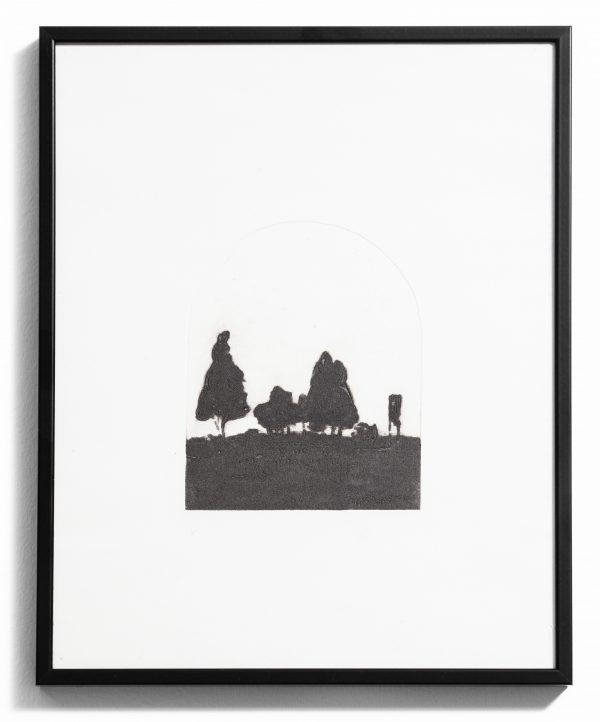 Gravure au carborundum sur papier Hahnemühle, interprétation du poème éponyme d'Émile Verhaeren