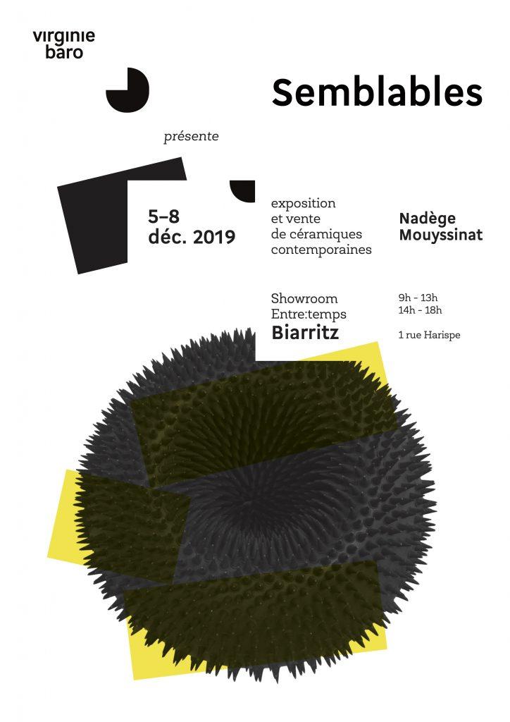 Solo show de la céramiste Nadège Mouyssinat à Biarritz, commissariat d'exposition galerie Virginie Baro