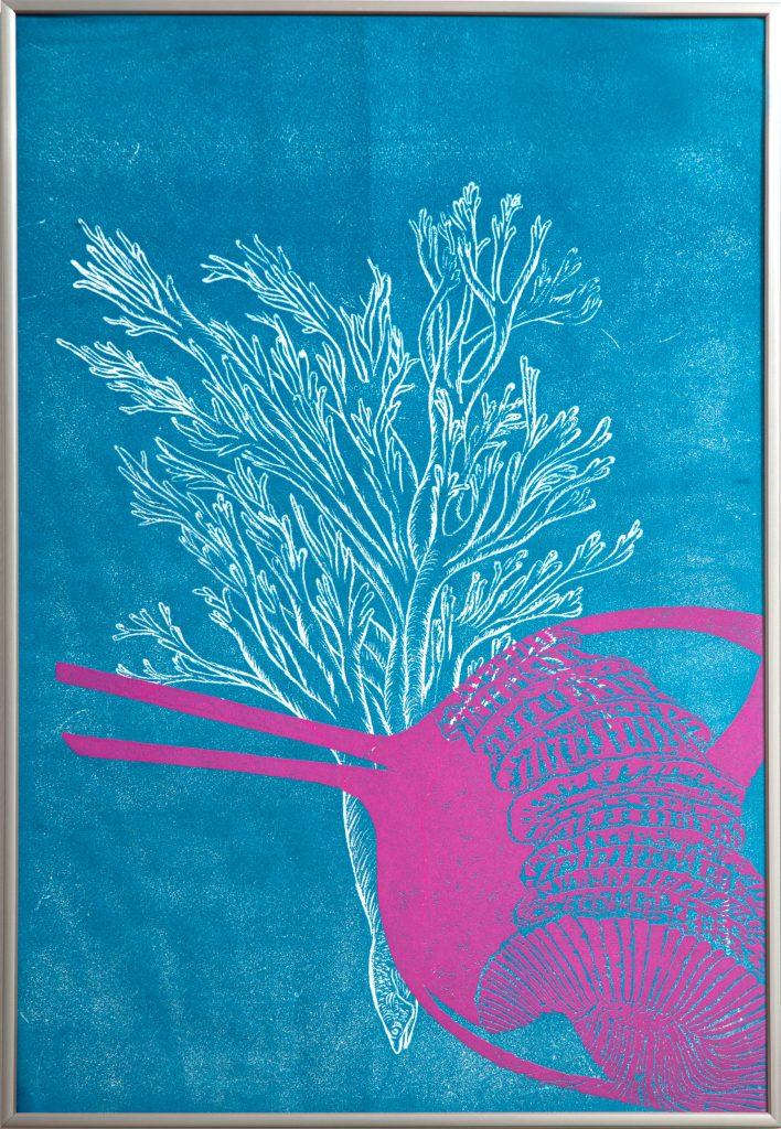 """Série """"Corail"""", Marie-Noëlle Deverre, gravure sur dépron, galerie Virginie Baro"""