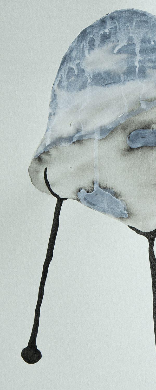 Encre et acrylique sur papier, Benoît Mauduech, galerie Virginie Baro