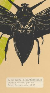 Linogravure sur papier recyclé, Jana Lottenburger, représentée par la galerie Virginie Baro