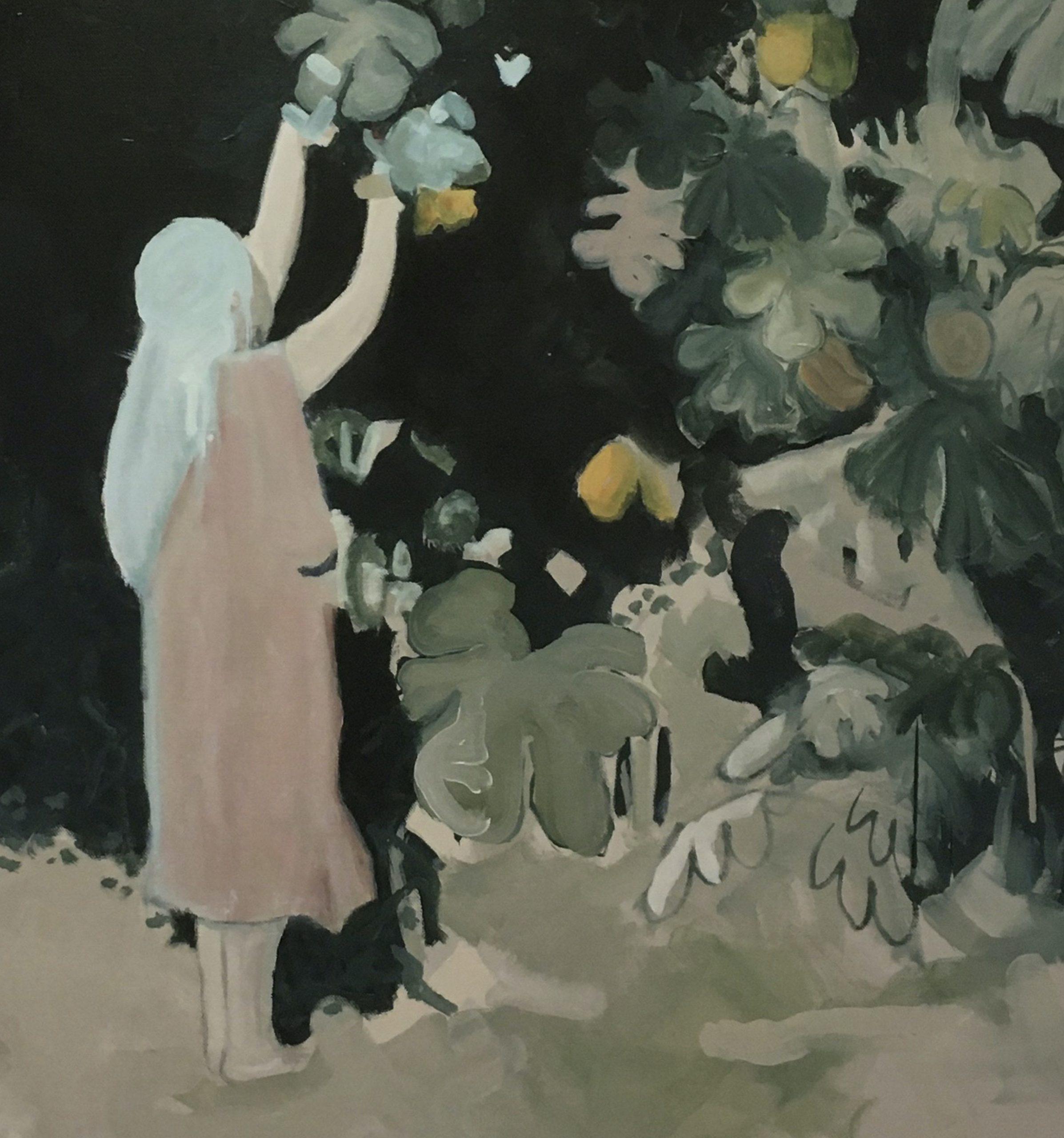 Huile sur toile de Thomas Loyatho, représenté par la galerie Virginie Baro