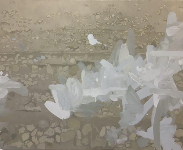 Huile sur toile de Thomas Loyatho, entre figuration et abstraction, représenté par la galerie Virginie Baro