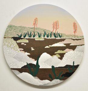 Huile sur toile, paysage réalisé par la peintre Éléonore Deshayes représentée par la galerie Virginie Baro