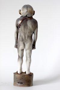 Sculpture en porcelaine et grès par Alain Quercia, représenté par la galerie Virginie Baro