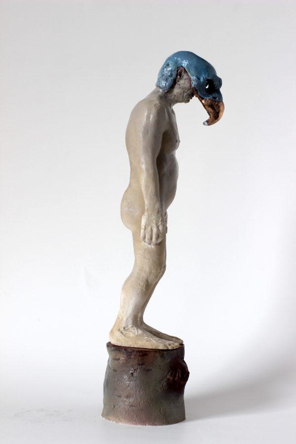 Sculpture en porcelaine, faïence et or par Alain Quercia, représenté par la galerie Virginie Baro