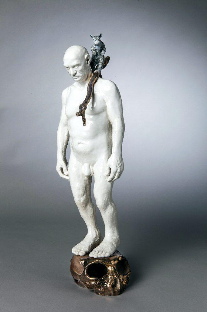 Sculpture en porcelaine par Alain Quercia, représenté par la galerie Virginie Baro