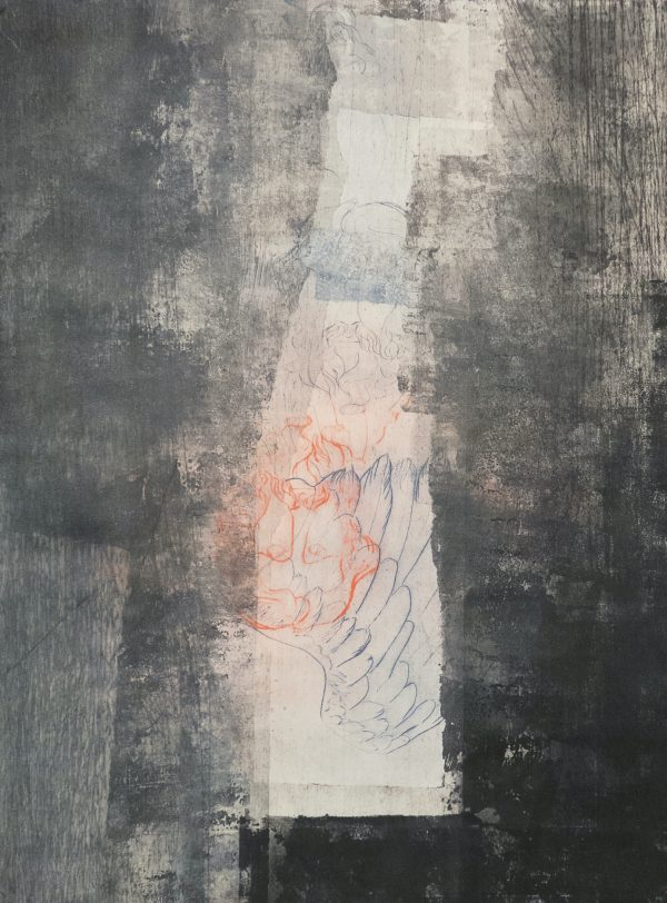 Monoprint pointe sèche, monotype sur papier gravure, Blandine Galtier, galerie Virginie Baro
