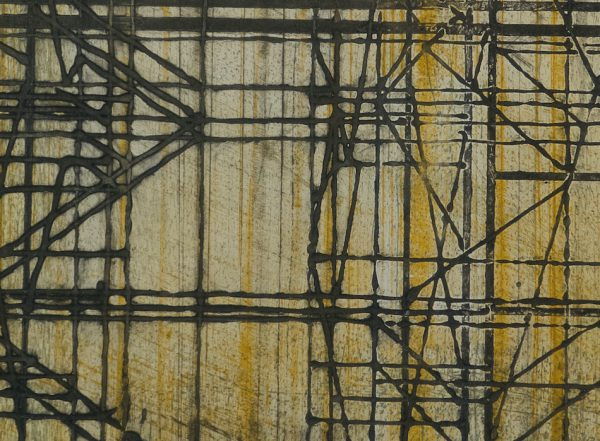 Monoprint pointe sèche, carborundum sur papier d'art, gravure de Blandine Galtier, galerie Virginie Baro