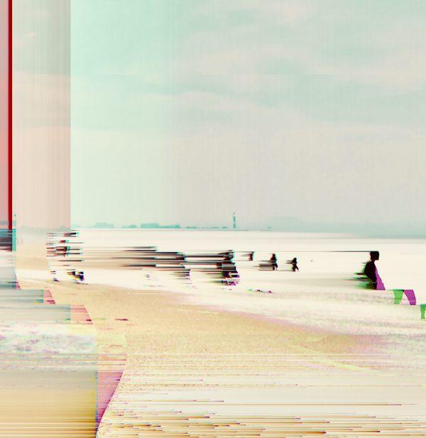 Photographie panoramique corrompue, tirage unique, Claude Billès, galerie Virginie Baro