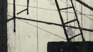 Monoprint, transfert, carborundum, sur papier gravure, Blandine Galtier, galerie Virginie Baro