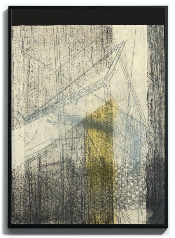 Monoprint pointe sèche sur papier gravure, Blandine Galtier, représenté par la galerie Virginie Baro