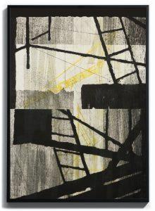 Monoprint pointe sèche, carborundum sur papier gravure, Blandine Galtier