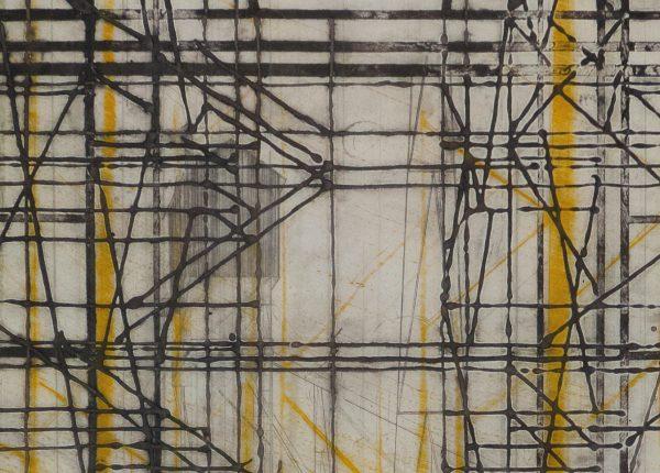 Monoprint pointe sèche, carborundum, gravure sur papier wenzhou, Blandine Galtier, Galerie Virginie Baro