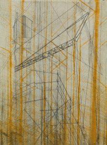 Monoprint pointe sèche, gravure sur papier d'art, Blandine Galtier, galerie Virginie Baro