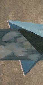 Huile sur bois du peintre Thomas Loyatho, représenté par la galerie Virginie Baro