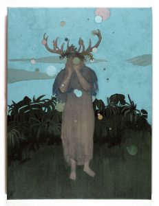 Huile sur toile du peintre Thomas Loyatho, représenté par la galerie Virginie Baro