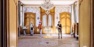 Exposition collective de 10 artistes de la galerie Virginie Baro au Château d'Estrac à Hastingues dans les Landes.